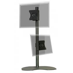 "Pedestal autosoportante para 2 LCD/LED hasta 24"" vertical"