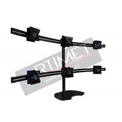 "Pedestal autosoportante para 6 LCD/LED hasta 24"""