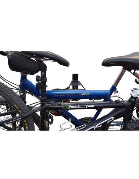 Soporte mural para dos bicicletas