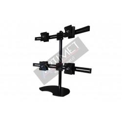 "Pedestal autosoportante para 4 LCD/LED hasta 24"""
